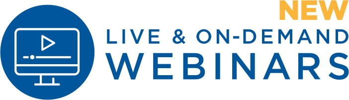 New Live & On-Demand Webinars
